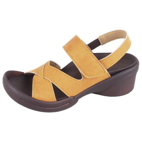 リゲッタ サンダル レディース ウェッジソール ストラップ 幅広 甲高 履きやすい ベルクロ グミ インソール sandal|gjweb|28