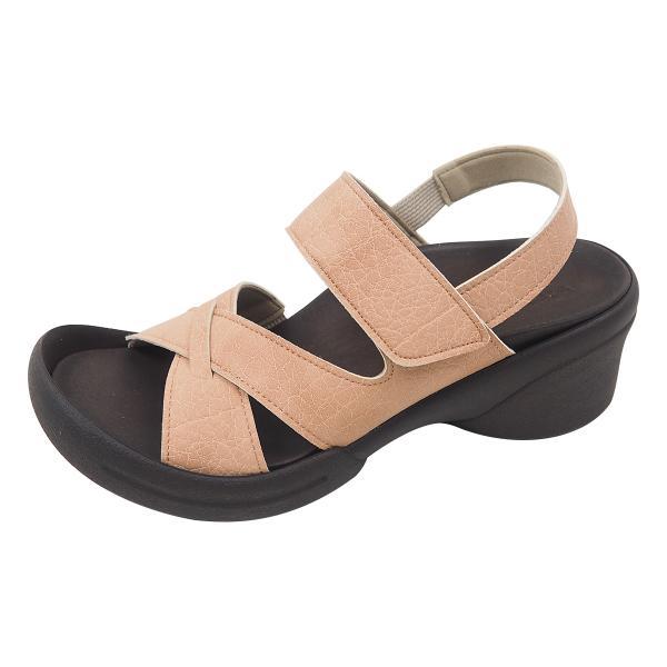 リゲッタ サンダル レディース ウェッジソール ストラップ 幅広 甲高 履きやすい ベルクロ グミ インソール sandal|gjweb|30