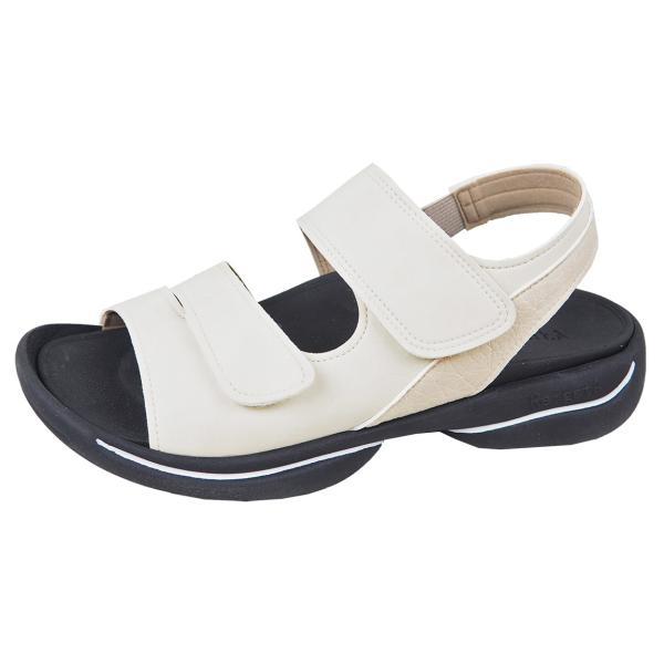 リゲッタ サンダル レディース オフィス ストラップ 甲高 幅広 履きやすい ベルクロ 防滑 グミ インソール sandal gjweb 20