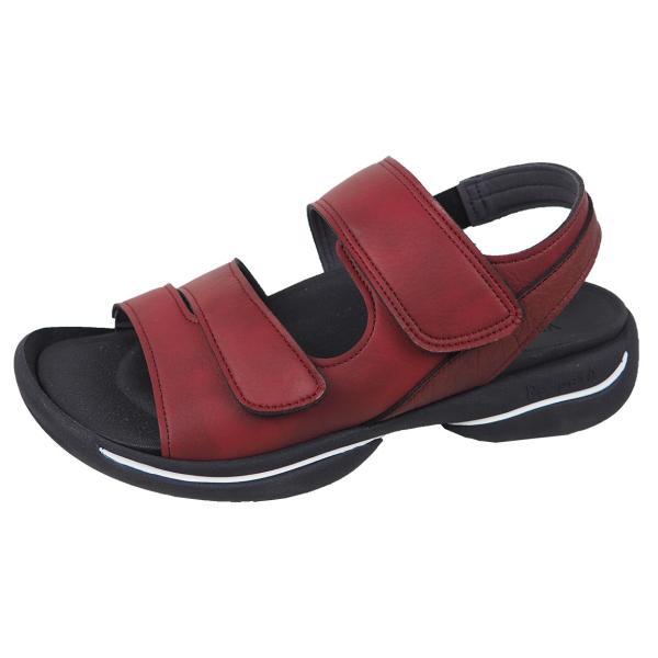 リゲッタ サンダル レディース オフィス ストラップ 甲高 幅広 履きやすい ベルクロ 防滑 グミ インソール sandal gjweb 22