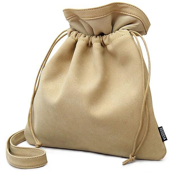 【送料無料】 巾着バッグ メンズ レディース 巾着 ショルダーバッグ 2way 肩掛け ミニバッグ バッグ スムース ヌバック カバン 鞄 シンプル glabella 23