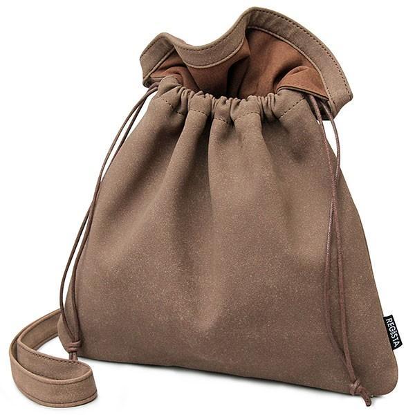 【送料無料】 巾着バッグ メンズ レディース 巾着 ショルダーバッグ 2way 肩掛け ミニバッグ バッグ スムース ヌバック カバン 鞄 シンプル glabella 24