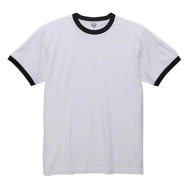 Tシャツ 半袖 無地 リンガーTシャツ バインダーネック メンズ 黒 白 ブラック ホワイト ユナイテッドアスレ 5.6oz 丸胴 シンプル|glabella|16