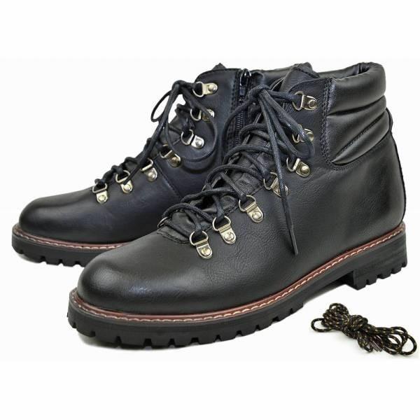 ワークブーツ マウンテンブーツ メンズ ブランド ショートブーツ レザーブーツ レースアップブーツ 黒ブーツ カジュアルブーツ 冬 人気 靴 glabella 21