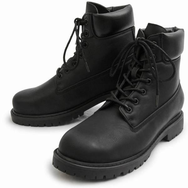 ワークブーツ メンズ フェイクレザー 7ホール サイドジップ付き ショートブーツ 身長アップ 6cmアップ シークレットシューズ 靴 ブーツ|glabella|18