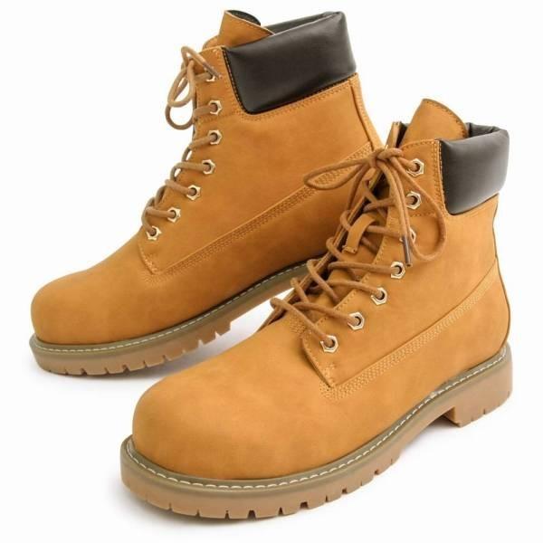 ワークブーツ メンズ フェイクレザー 7ホール サイドジップ付き ショートブーツ 身長アップ 6cmアップ シークレットシューズ 靴 ブーツ|glabella|19