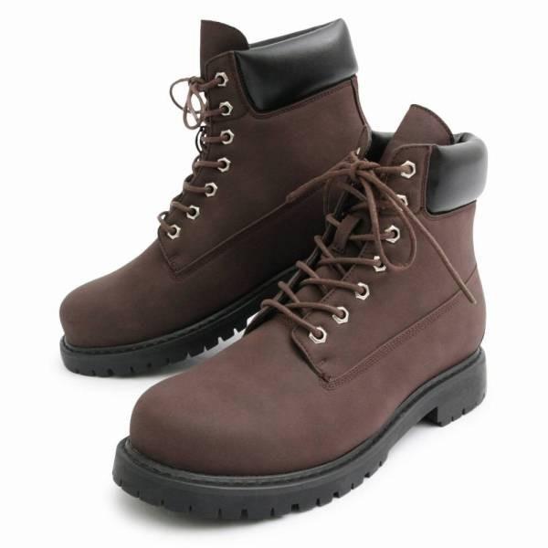 ワークブーツ メンズ フェイクレザー 7ホール サイドジップ付き ショートブーツ 身長アップ 6cmアップ シークレットシューズ 靴 ブーツ|glabella|20