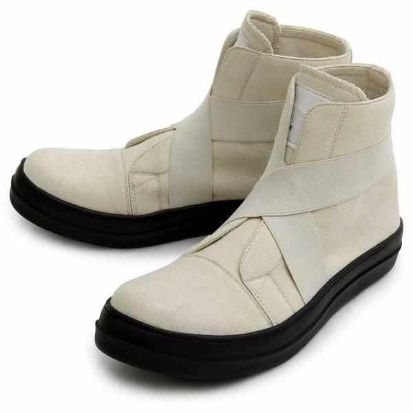 ハイカットスニーカー スリッポン メンズ ブランド 白スニーカー 黒スニーカー エラスティックバンドスニーカー 大人 冬 人気 オシャレ ジップ シューズ 靴|glabella|17