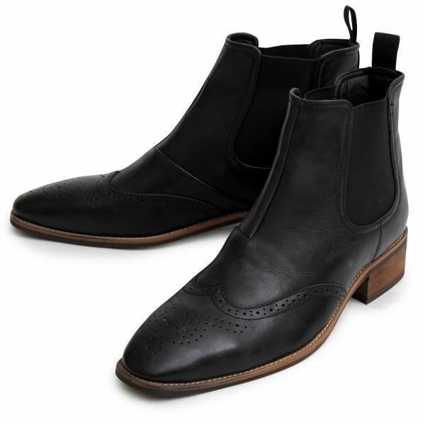 サイドゴアブーツ メンズ ブランド  スエードブーツ レザーブーツ 黒ブーツ カジュアルブーツ 大人ブーツ ミドルカット 冬 人気 靴|glabella|12
