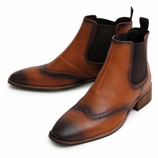 サイドゴアブーツ メンズ ブランド  スエードブーツ レザーブーツ 黒ブーツ カジュアルブーツ 大人ブーツ ミドルカット 冬 人気 靴|glabella|14