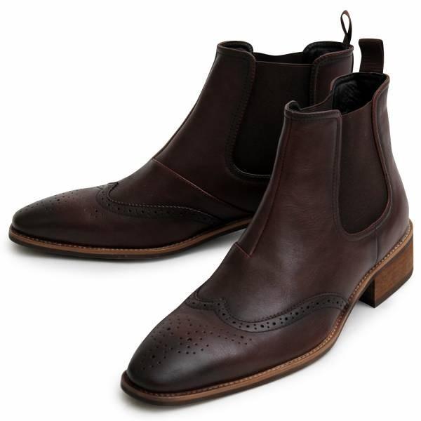 サイドゴアブーツ メンズ ブランド  スエードブーツ レザーブーツ 黒ブーツ カジュアルブーツ 大人ブーツ ミドルカット 冬 人気 靴|glabella|13