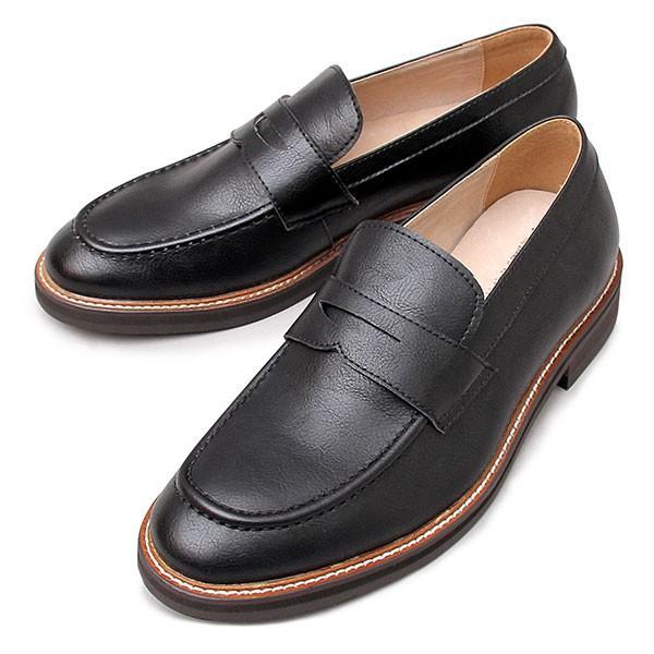 ローファー コインローファー メンズ シューズ スプリットレザー 牛床革 革靴 紳士靴 スリッポン|glabella|21