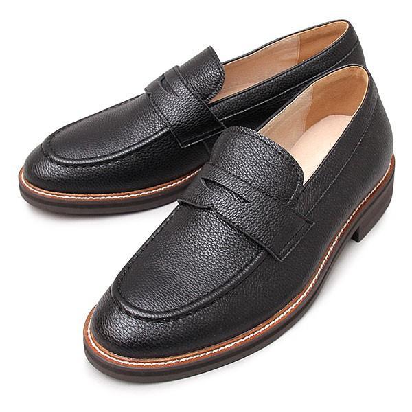 ローファー コインローファー メンズ シューズ スプリットレザー 牛床革 革靴 紳士靴 スリッポン|glabella|23