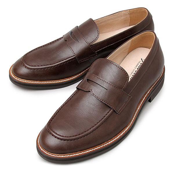 ローファー コインローファー メンズ シューズ スプリットレザー 牛床革 革靴 紳士靴 スリッポン|glabella|22