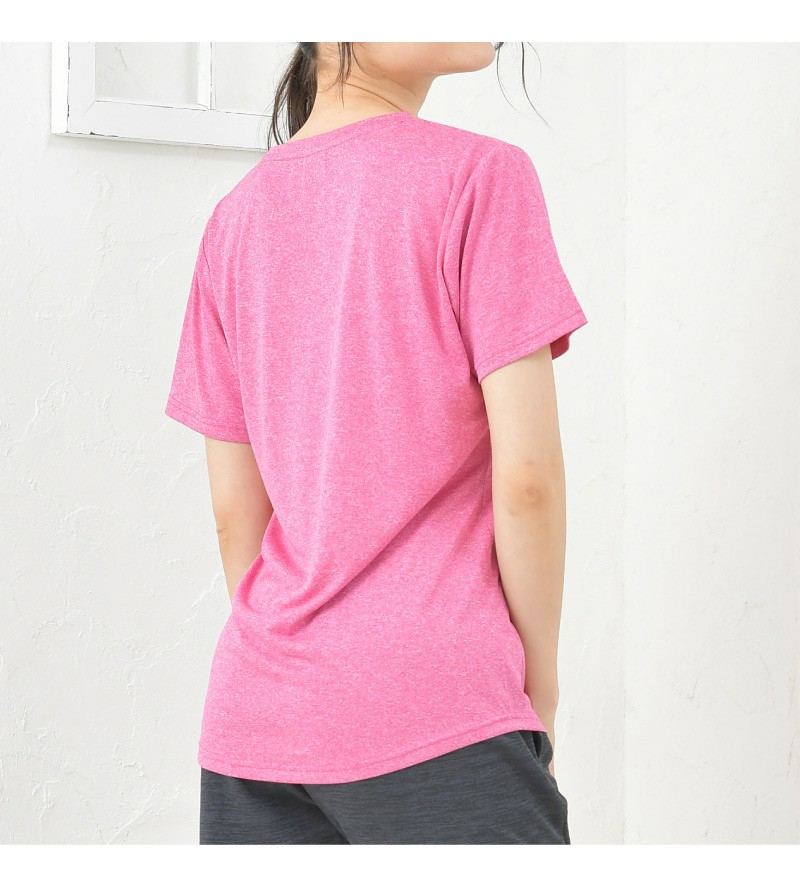 スポーツインナー レディース 速乾 吸汗 UVカット 紫外線対策 シャツ ヨガ フィットネス ロゴ Tシャツ 半袖 TULTEX タルテックス