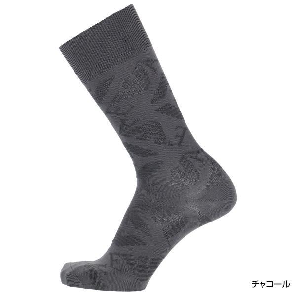 EMPORIO ARMANI エンポリオ アルマーニ メンズ ソックス 靴下 ロゴリンクス柄 クルー丈 カジュアル ソックス ポイント10倍|glanage|13