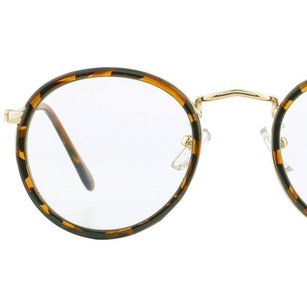 ブルーライトカットメガネ PCメガネ 丸メガネ ラウンド レディース かわいい おしゃれ  伊達メガネ UVカット べっ甲柄 黒 5126 glass-garden 13