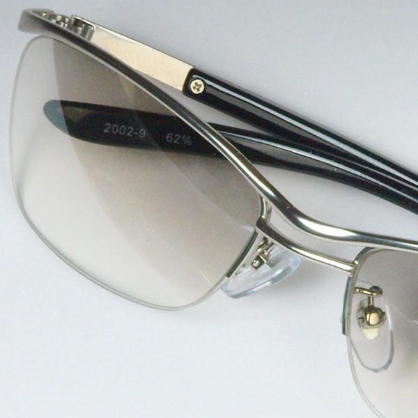 サングラス おしゃれ 男性用 メンズ 伊達メガネ 紫外線カット UVカット かっこいい ちょい悪 ちょいワル メタル ナイロール FI2002|glass-garden|23