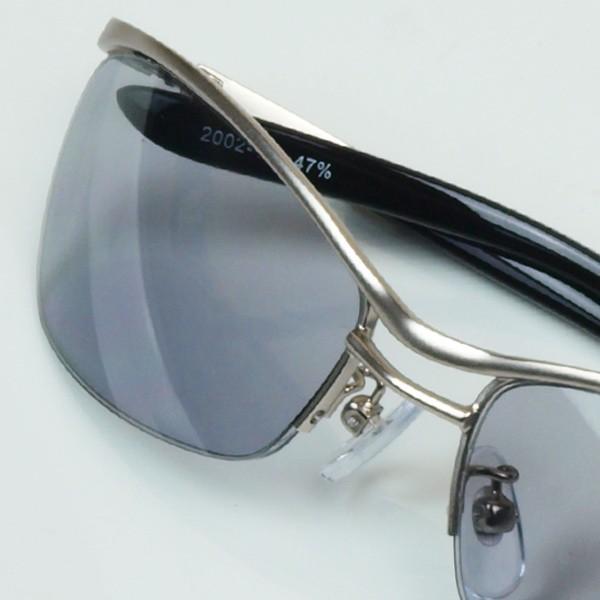 サングラス おしゃれ 男性用 メンズ 伊達メガネ 紫外線カット UVカット かっこいい ちょい悪 ちょいワル メタル ナイロール FI2002|glass-garden|27