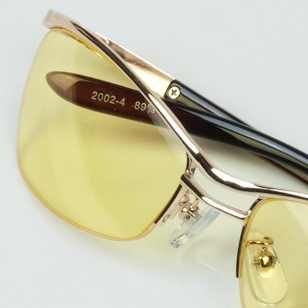 サングラス おしゃれ 男性用 メンズ 伊達メガネ 紫外線カット UVカット かっこいい ちょい悪 ちょいワル メタル ナイロール FI2002|glass-garden|25