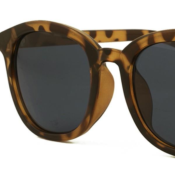 サングラス レディース UVカット おしゃれ ボストン ウェリントン 女性 メンズ ボスリントン 大きめ ベージュ べっこう柄 黒ぶち FI5067|glass-garden|15