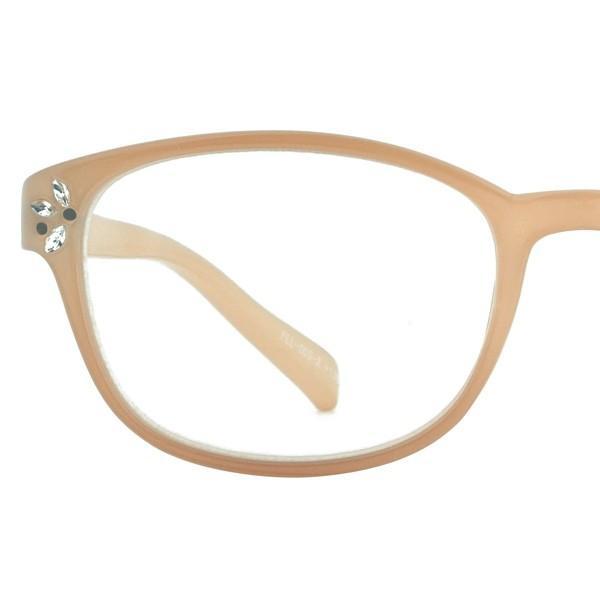 老眼鏡 おしゃれ 女性用 レディース おしゃれ リーディンググラス ボストン ストーン スモーククリア ベージュ FLL-005|glass-garden|15