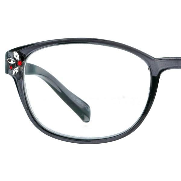 老眼鏡 おしゃれ 女性用 レディース おしゃれ リーディンググラス ボストン ストーン スモーククリア ベージュ FLL-005|glass-garden|14