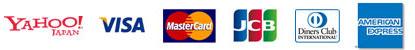 利用可能クレジットカード このマークのカードが使えます