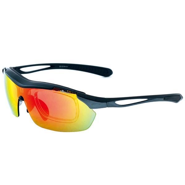 エレッセ スポーツサングラス ES-S108 度付き対応 インナーフレーム メンズ 偏光レンズ 交換レンズ5枚 ゴルフ  マラソン ランニング サイクリング 送料無料|glass-splash|06