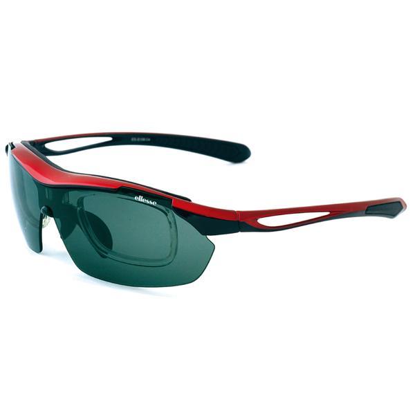 エレッセ スポーツサングラス ES-S108 度付き対応 インナーフレーム メンズ 偏光レンズ 交換レンズ5枚 ゴルフ  マラソン ランニング サイクリング 送料無料|glass-splash|07