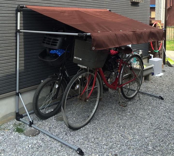 自転車ガレージスタンドシート自転車スタンドスタンド自転車サイクルポートアルミス