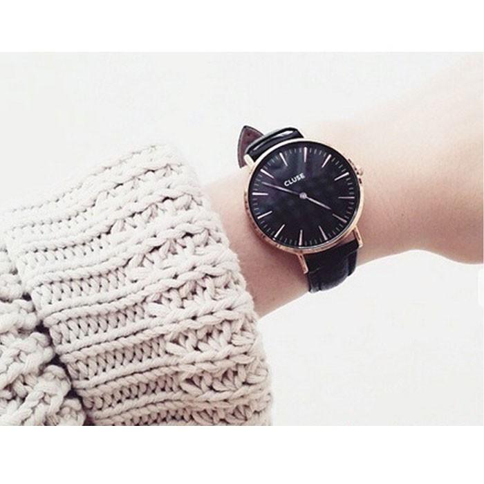 クルース CLUSE 腕時計 レディース メンズ ユニセックス ローズゴールド ブラック CL18001