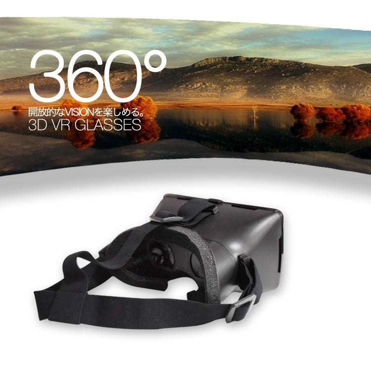 3D VR GLASSES Vreality バーチャル リアリティ 360° 動画 Oculus Rift オキュラス リフト ゲーム アプリ 仮想現実 レンズ スマホ iphone