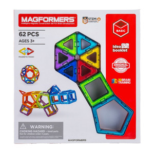 【お盆もあすつく】マグフォーマー Magformers 62ピース おもちゃ 玩具 知育玩具 キッズ 空間認識 展開図 glv 10