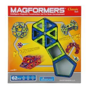 【お盆もあすつく】マグフォーマー Magformers 62ピース おもちゃ 玩具 知育玩具 キッズ 空間認識 展開図 glv 11