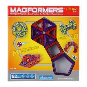 【お盆もあすつく】マグフォーマー Magformers 62ピース おもちゃ 玩具 知育玩具 キッズ 空間認識 展開図 glv 12
