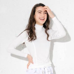 ラッシュガード レディース 長袖 Tシャツ ハイネック ゆったり 大きいサイズ UPF50+ UVカット FELLOW 紫外線対策|GO!ISLAND