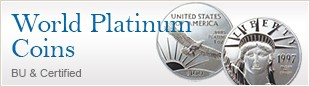 World Platinum Coins  BU & Certified
