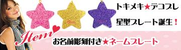 星のネームプレート「スター」