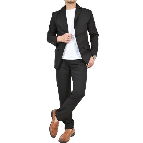 スーツ メンズ セットアップ 上下セット ストレッチ テーラードジャケット 無地 チェック柄 春 夏 おしゃれ 春夏 2019 BG-SET9309|golfwear|17