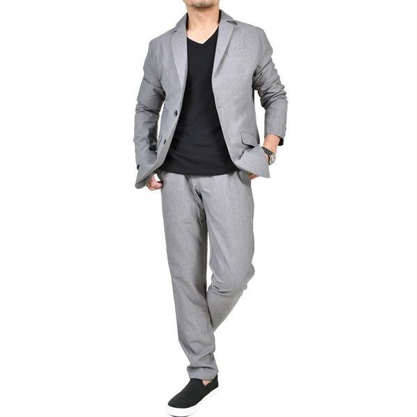 スーツ メンズ セットアップ 上下セット ストレッチ テーラードジャケット 無地 チェック柄 春 夏 おしゃれ 春夏 2019 BG-SET9309|golfwear|18