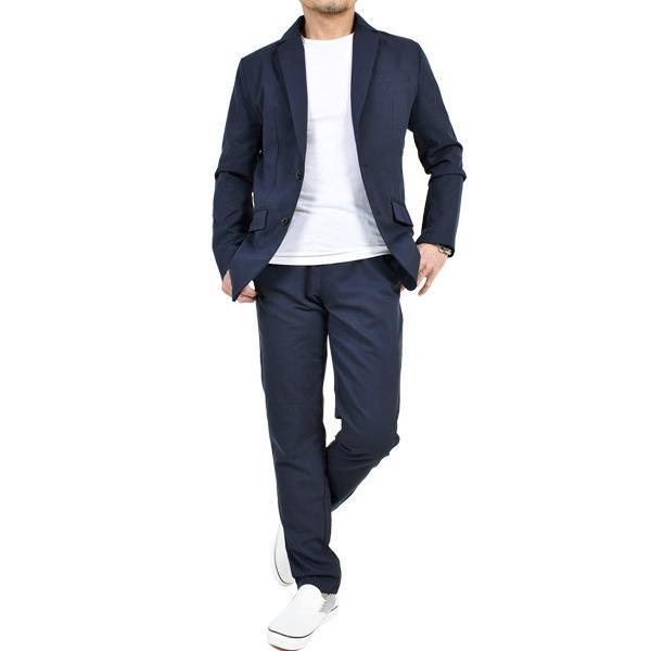 スーツ メンズ セットアップ 上下セット ストレッチ テーラードジャケット 無地 チェック柄 春 夏 おしゃれ 春夏 2019 BG-SET9309|golfwear|19