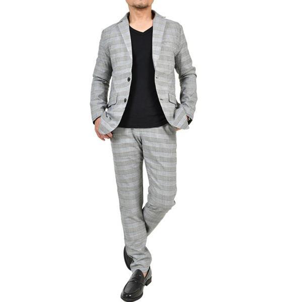 スーツ メンズ セットアップ 上下セット ストレッチ テーラードジャケット 無地 チェック柄 春 夏 おしゃれ 春夏 2019 BG-SET9309|golfwear|20