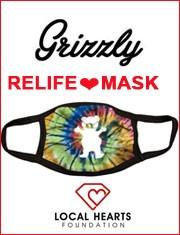 マスク グリズリー GRIZZLY OG Bear Face Mask Tie-Dye