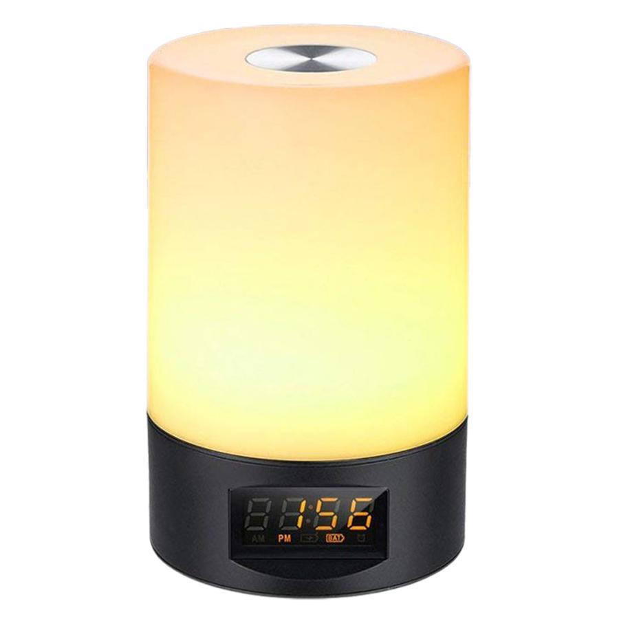 2021年 新商品 光 目覚まし時計 間接照明 授乳ライト デジタル時計 LED ライト 目覚まし USB 充電 調光 調色 ナイトライト 卓上 小型 コンパクト 快眠 コードレ|golwis|22
