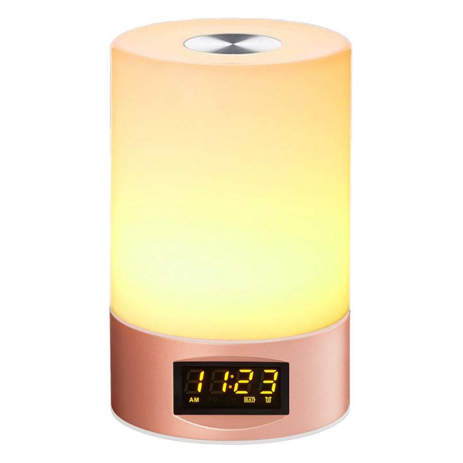 2021年 新商品 光 目覚まし時計 間接照明 授乳ライト デジタル時計 LED ライト 目覚まし USB 充電 調光 調色 ナイトライト 卓上 小型 コンパクト 快眠 コードレ|golwis|23