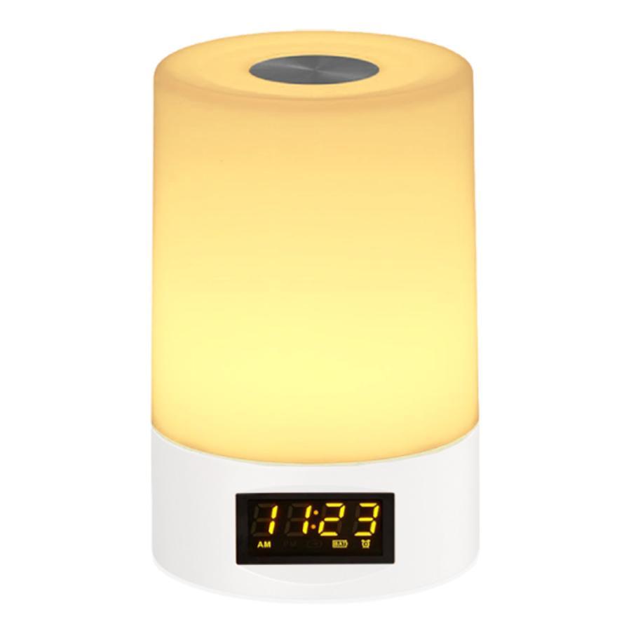 2021年 新商品 光 目覚まし時計 間接照明 授乳ライト デジタル時計 LED ライト 目覚まし USB 充電 調光 調色 ナイトライト 卓上 小型 コンパクト 快眠 コードレ|golwis|21