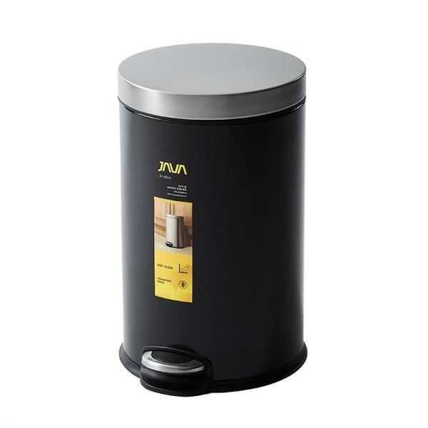 JAVA Effie ペダルビン ステンレス ゴミ箱 12L  / インナーボックス付 15Lゴミ袋対応 丸型ペダル式 ダストボックス|gomibako-world|09