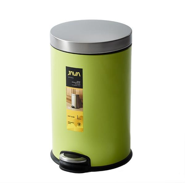 JAVA Effie ペダルビン ステンレス ゴミ箱 12L  / インナーボックス付 15Lゴミ袋対応 丸型ペダル式 ダストボックス|gomibako-world|10