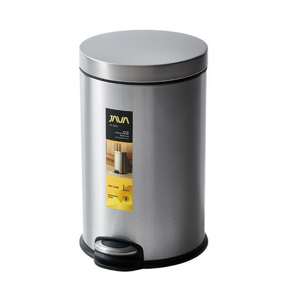 JAVA Effie ペダルビン ステンレス ゴミ箱 12L  / インナーボックス付 15Lゴミ袋対応 丸型ペダル式 ダストボックス|gomibako-world|11